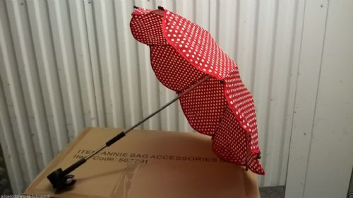 New Hauck official dots RED ladybird Parasol Umbrella for pushchair pram buggy